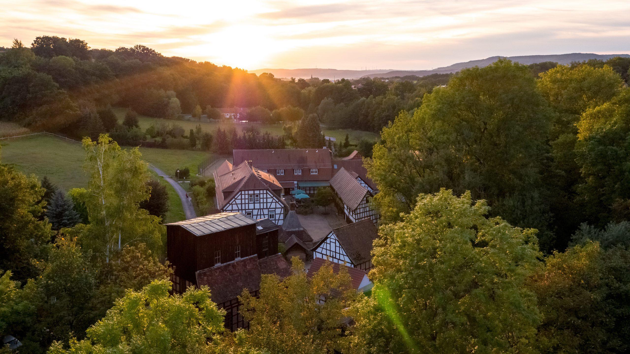 Hammermühle mitten im Grünen