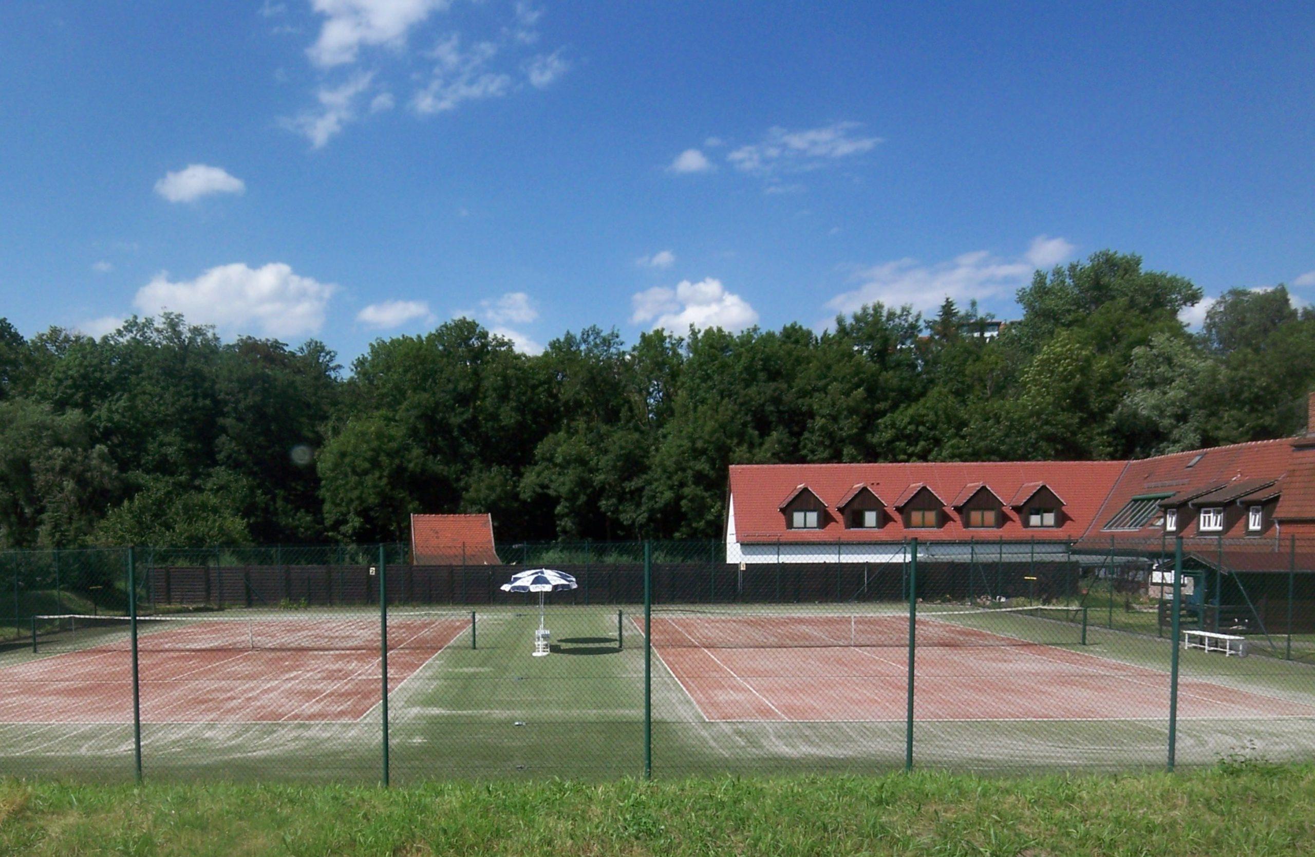 Kunstrasen-Tennisplätze des Hotels Hammermühle